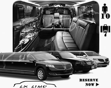 Stretch Limo airport shuttle in Edmonton