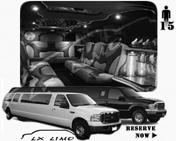 Lincoln Excursion SUV Limo for hire in Edmonton AB