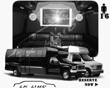 Party Limo Bus rental in Edmonton | Edmonton LIMOBUS 16 passengers